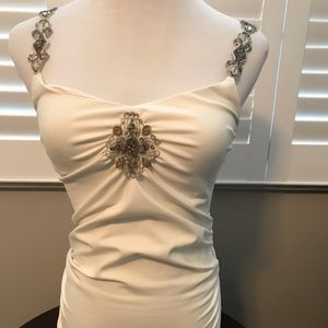 Cache Embellished Strap Top Sz Med NWT